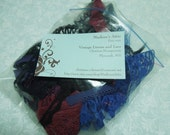 Goodie Grab bag lot of dark colored chantilly laces for crafts, sewing, doll,  trim, bridal, baby by MarlenesAttic