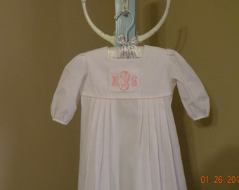 Baby girl monogrammed Day Gown