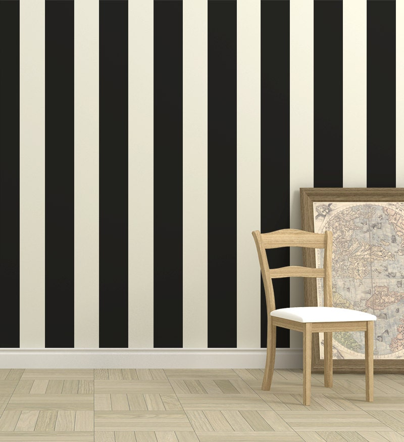 Wall Decor With Stripes : Wall stripes vinyl decal or