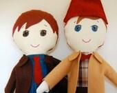 Doctor Who Inspired My Gigi Doll Doll Custom Handmade softie soft doll