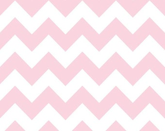 New Colors In stock Now-  Medium Chevron Laminate- Baby Pink  by Riley Blake 1 yard