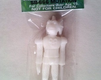 SEA-BORG MUTATION 4.5 inch Plastic Resin Figure - solid white Abyss