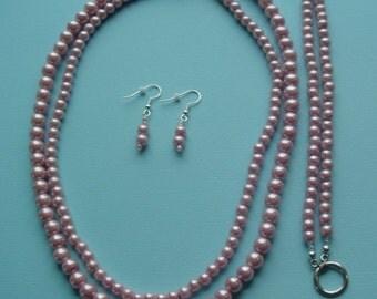 Necklace, Bracelet & Earring Set (2 stranded)