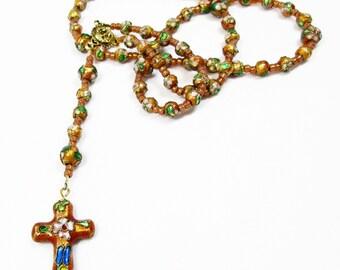 Tan Cloissone' Rosary