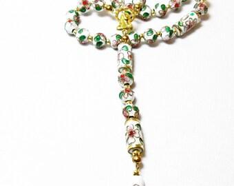 White Cloissone' Rosary