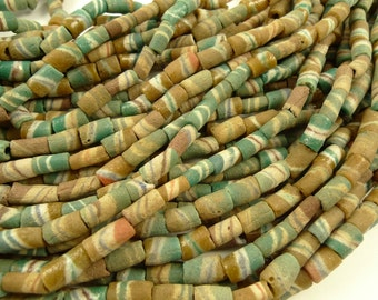 "36"" long strand african layered powa powder glass trade beads scarce tribal old"