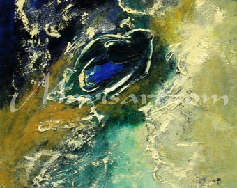 "Title ""The ring"" 16in x 20in Abstract Original painting by Mavis"