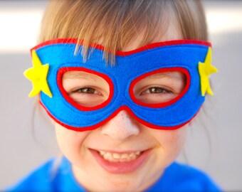 Stupendous Superhero Complete Costume - Cape - Mask - Shirt - Cuffs