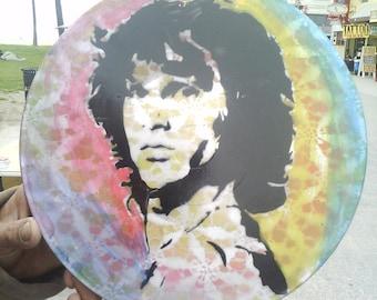 HAND PAINTED Jim Morrison Vinyl Record Art