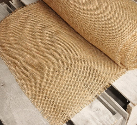 """13"""" x 60"""" Basic Fringe Burlap Table Runner-3 Colors Available-Single Layer-Wedding/Country/Folk/Rustic-Party Table Decor"""