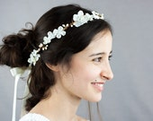 Neige: A white and ivory bridal head wreath