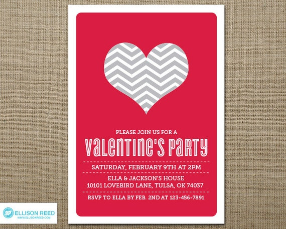 Items similar to Valentine's Party Invitation - Valentines Day ...