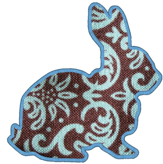Bunny digital machine applique embroidery by