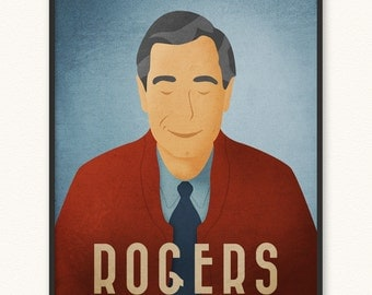 Mister Rogers • Minimalist Portrait Poster • Choose Style • Art Print • Imagination