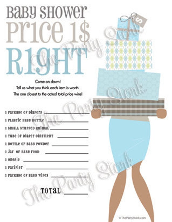 Unique baby shower games price is right baby shower game printable