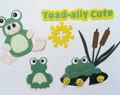 Custom Order for Karen:  Toad-ally Cute Premade Scrapbook Paper Piecings