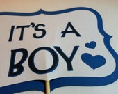 Its a Boy Baby announcement photo props, photo booth props, Its a Boy on a stick