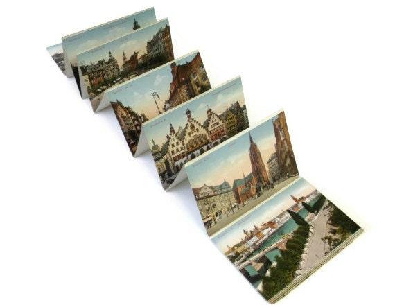 Vintage Postcards, Frankfurt, Germany, Color, Unused, Set of 20, Vintage Travel Souvenir, Vintage Paper Ephemera
