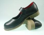 MAGIC SHOES  Leather Handmade unique shoes  Black Magic