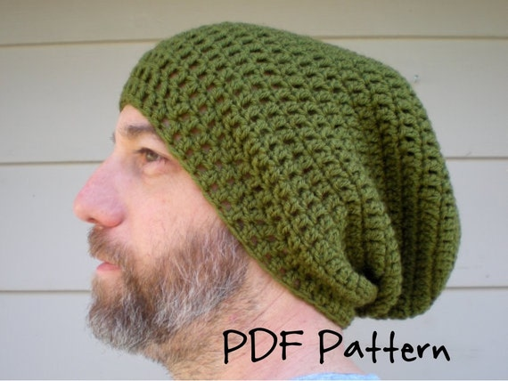 Free Crochet Pattern For Mens Slouchy Beanie : 2 DIY Crochet Patterns SIMPLE and EASY The Perfect by swellamy