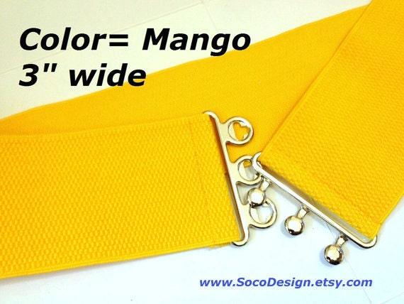 waist cincher wide yellow belt elastic belt belt