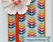 Handmade Stamped and Embossed Birthday Card