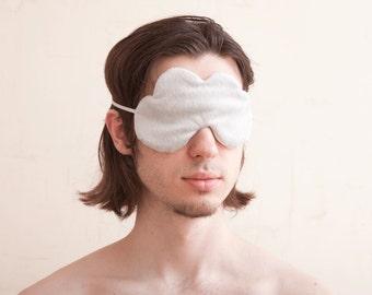 Gray Cloud Sleep Mask, travel sleep mask, gift for boyfriend