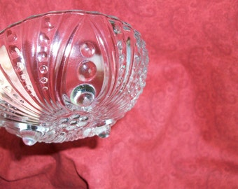 Anchor Hocking footed Dessert Dish Vintage 60's collectible