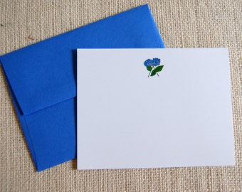 Watercolor hydrangea notecards