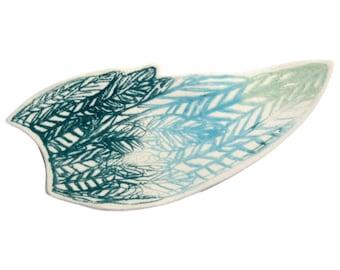 Screenprinted Porcelain Wing Brooch