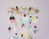 Cupcake Nursery Mobile- Nursery Decor, Photography Prop, Baby Shower Gift