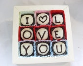 sweet gift to say I LOVE YOU--Delicious chocolates  dark chocolate, white chocolate and  pink -high quality, succulent and sweet