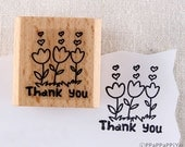 40% OFF SALE Thank You 02 Rubber Stamp