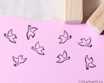 Mini Fly bird Rubber Stamps set