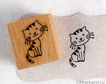 50% OFF SALE Sit down cat  Rubber Stamp