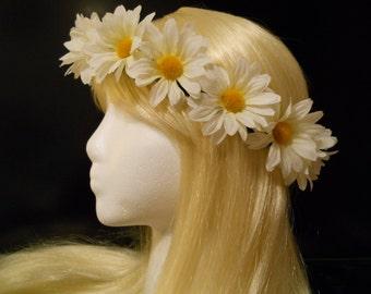 Electric Daisy Carnival, EDC, Coachella, Flower Crown, Head Wreath, Headband, Daisy Chain, Festivals, Boho, Flower Girl, Hippie, Music, Halo