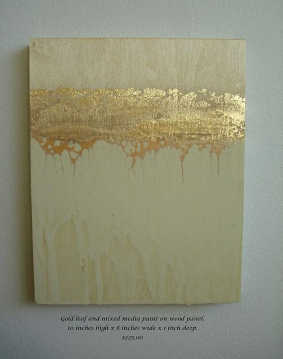 Acrylic Painting On Gold Foil