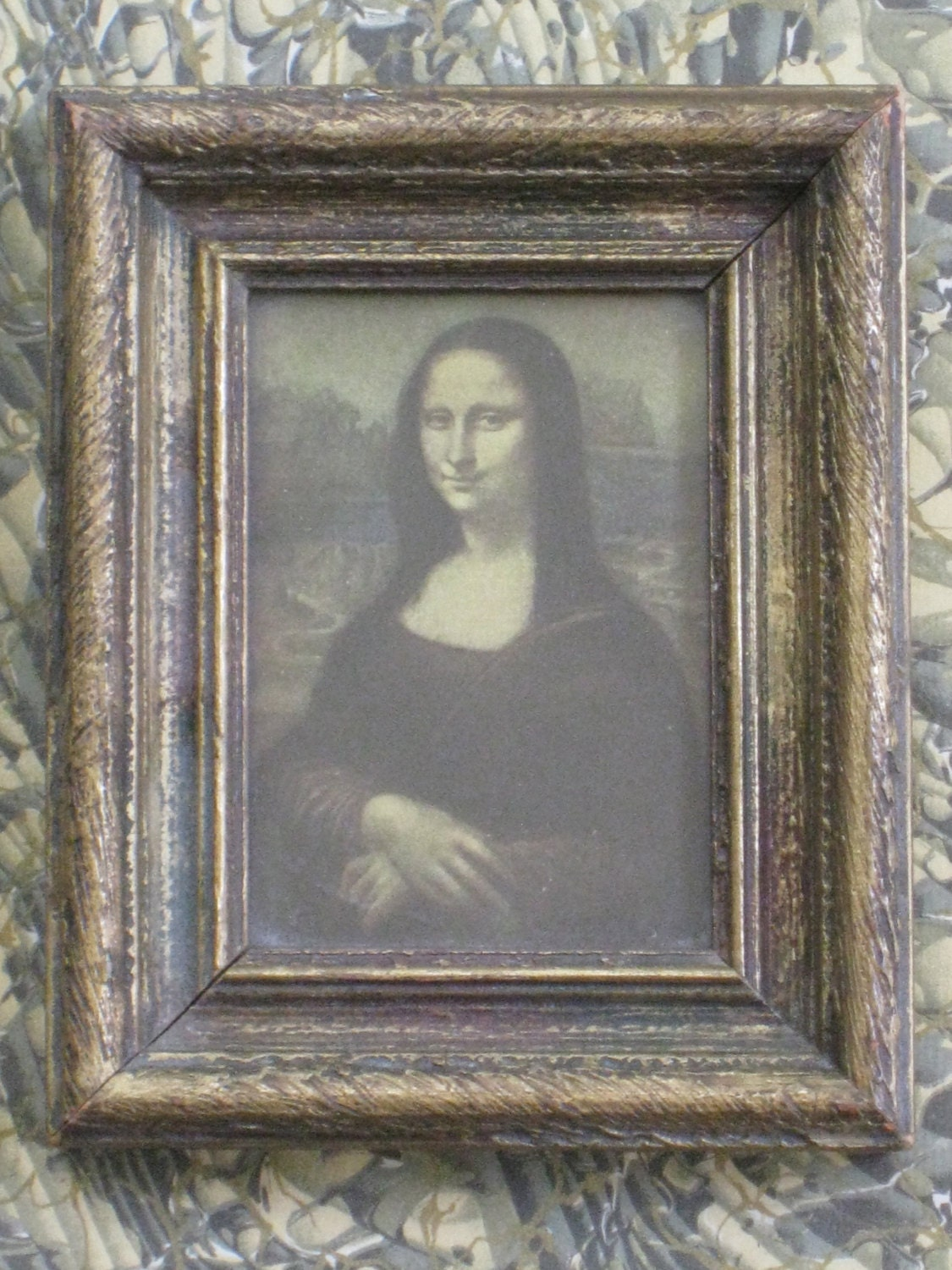 small framed reproduction of mona lisa vintage home decor vintage reproduction home design ideas pictures remodel