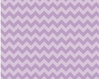 Small Chevron Tone on Tone Lavender by Riley Blake Designs Fat Quarter Cut
