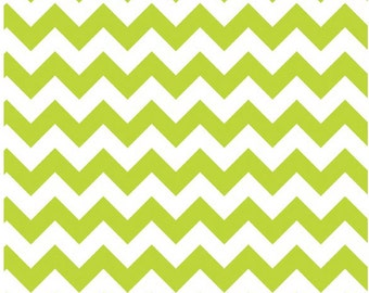 Medium Chevron Lime  by Riley Blake Designs 1 yard cut