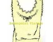 Plus Size (or any size) 1934 Vintage Underwear Lingerie Sewing Pattern Petticoat - PDF - Pattern No 6 Luella