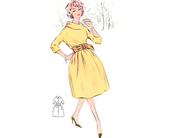 Plus Size (or any size) Vintage 1950s Dress Pattern - PDF - Pattern No 19: Cheryl