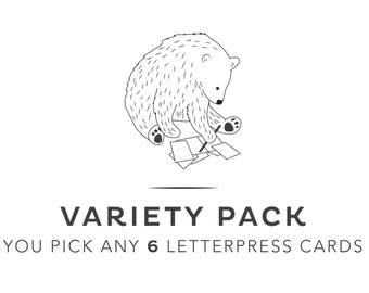 You Pick 6 Cards - Variety Pack