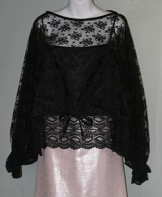 vintage clothing designer black lace by