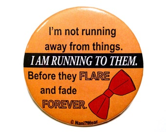 Who 11th Doctor Button 2-Inch: Running To