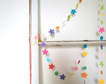 Flower Shop Brights paper garland - 10 feet (3 metres) Easter warm spring color girls party decor