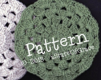 Dishcloth PATTERN # 1, Washcloth, Coaster, Doily, Hotpad, Crochet, INSTANT DOWNLOAD