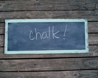 Chalkboard Shabby and Distressed  Sea Glass Mint