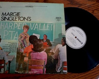 vintage retro rage ... HARPER VALLEY PTA  Record ... Margie Singletons