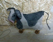 Primitive Cow Pull Toy, - 403, primitive pattern, HAFAIR